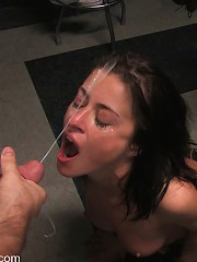 Cecilia Vega is bound, fucked and used by a bar full of strangers